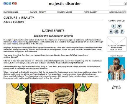 Majestic Disorder & Xapiri Interview 1