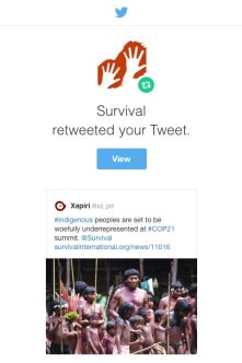 Survival International Retweet - Xapiri