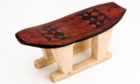 Ticuna Indigenous Bench, Tribal Art