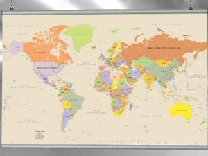 Παγκόσμιος χάρτης με μπάρες αλουμινίου