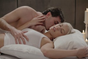X-Art Barbie in Rolling in the Sheets With James Deen 5