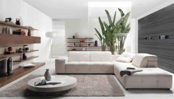 Круглий килим в інтер'єрі вітальні (26 фото)