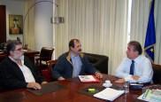 2010/10/18: Ο Β. Χατζηλάμπρου και ο Γ. Λύχρος με τον γ.γ. της Περιφέρειας Δυτικής Ελλάδας Τάσο Αποστολόπουλο.