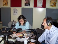 2013/07/07: Ο Β. Χατζηλαμπρου στο στουντιο της ΕΡΑ Πατρας
