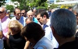 2013/07/24: Απο την επισκεψη του Αλ. Τσιπρα και βουλευτων του ΣΥΡΙΖΑ στα κεντρικα των Ελληνικων Αμυντικων Συστηματων στον Υμηττο