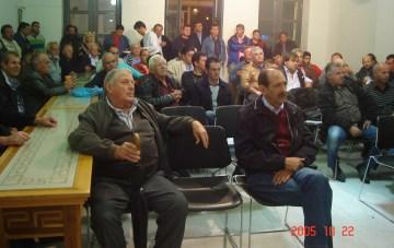 2013/11/04: Στιγμιοτυπο απο τη συνελευση των αγροτων στην Κατω Αχαγια