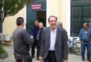2014/04/10: Απο την περιοδεια του Β. Χατζηλαμπρου και κλιμακιου της Αντιστασης Πολιτων Δυτικης Ελλαδας στη ΔΕΥΑ Μεσολογγιου
