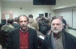 2014/12/29: Β. Χατζηλαμπρου και Ν. Συρμαλενιος στο στρατιωτικο αεροδρομιο της Ελευσινας, οπου εφτασαν οι πρωτοι διασωθεντες του Norman Atlantic