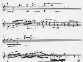 Partiturseite: xpt 131. Musik für Flöte, Violine und Viola von Xaver Paul Thoma
