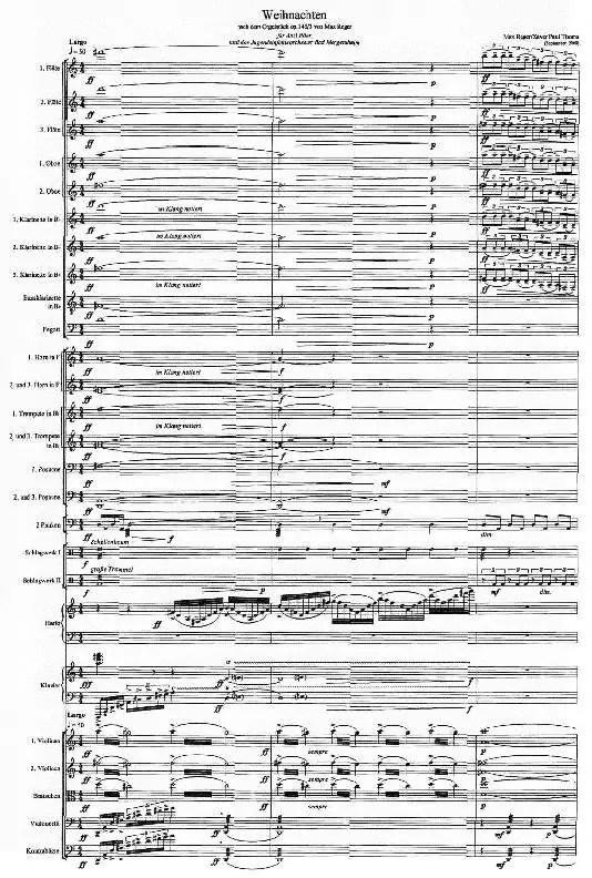 Partiturseite xpt 122. Weihnachten für Orchester von Xaver Paul Thoma