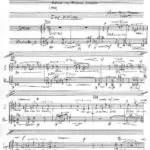 Partiturseite xpt 088. Hölderlin für Mezzosopran und Klarinette