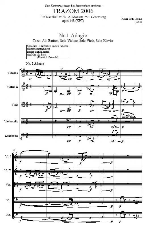 Partiturseite: xpt 148. TRAZOM 2006 von Xaver Paul Thoma