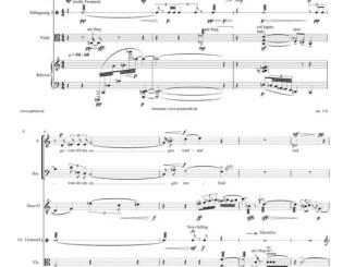 xpt118. Rembrandtplein, sommerleibend, grachtengem mit Texten von Jose F. A. Oliver aus Trilogie der Lichtmetamorphosen für Sopran, Bariton, Flöte(n), Bratsche, Klavier und Schlagzeug 1999