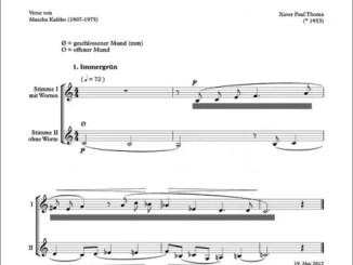 """Partiturseite: xpt 173 A. """"Feine Pflänzchen"""" für 2 Singstimmen"""