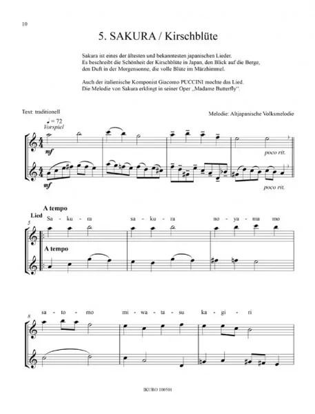 Partiturseite: xpt 160. 46 japanische Kinderlieder