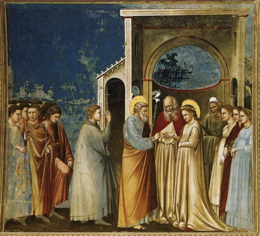 The Marriage of the Virgin by Giotto (circa 1305)  Scrovegni (Arena) Chapel, Padua, Italy