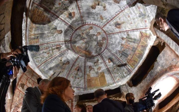 La tecnología láser destapa 1.600 años de antigüedad frescos cristianos en el mayor catacumba de Roma