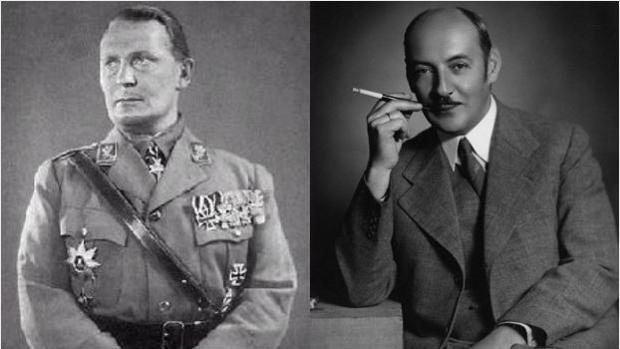 Hermann Göring (izquierda), junto a su hermano Albert - ABC