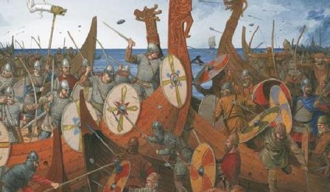 Así luchaban y morían los temidos guerreros vikingos en sus barcos