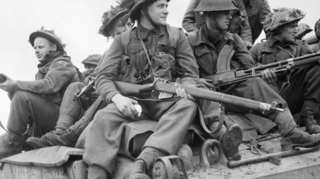 Soldados británicos durante la operación Market Garden