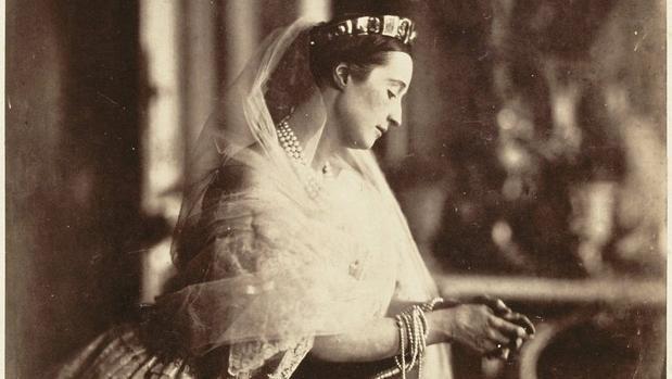 Fotografía de la Emperatriz Eugenia, en 1856