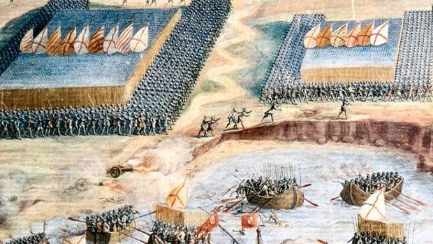 Detalle del desembarco en las islas Terceiras que puso fin a la guerra