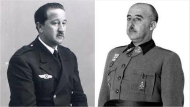 Ricardo de la Puente Bahamonde (izquierda), en un montaje junto a Franco - ABC