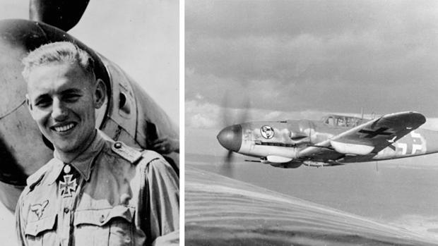 Erich Hartmann, durante la Segunda Guerra Mundial, cuando combatía a las órdenes de Hitler/ VÍDEO: Experimento Stuka: el día que los nazis bombardearon Castellón - ABC
