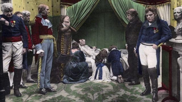 Representación fotográfica de la muerte de Napoleón