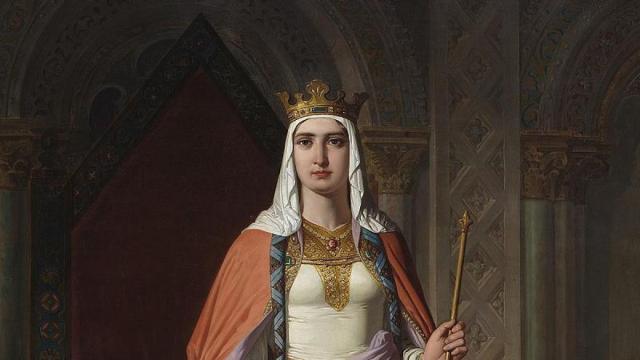 Urraca I de León, pintada por Carlos Múgica y Pérez en 1857. Obra hoy en el Congreso de los Diputados. Dominio público