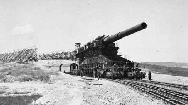 El Schwerer Gustav, el arma más grande usada en combate durante la IIGM. Imperial War Museum
