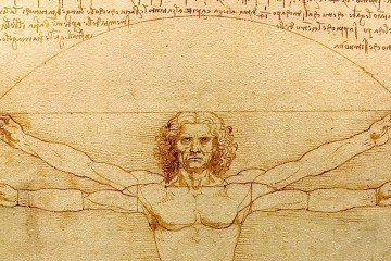 imagen parcial del hombre de Vitruvio