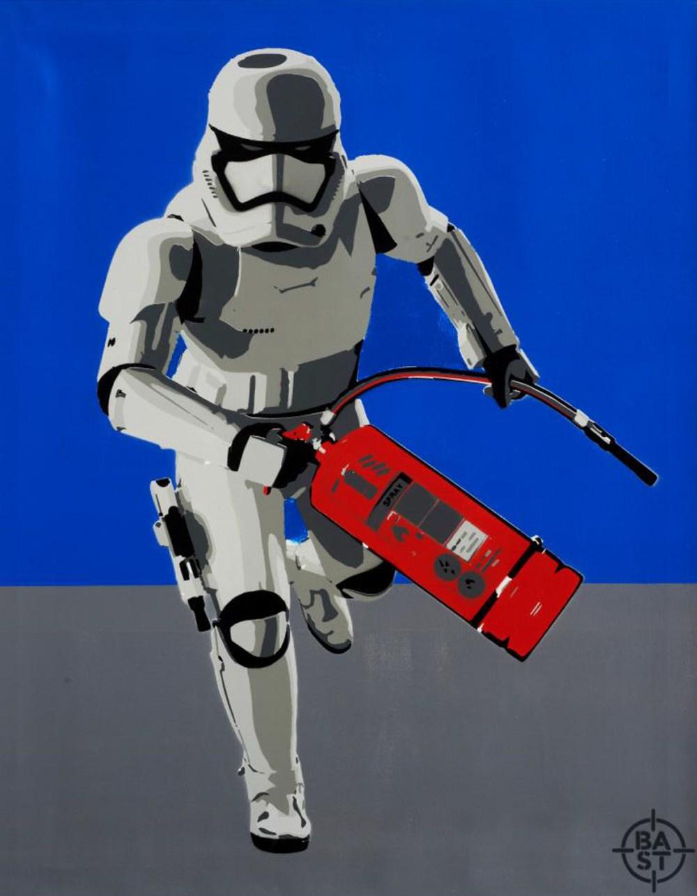 15 BASTO. Bastrooper 01, 100 x 80 cm. Acrílico y spray sobre lienzo, 2016