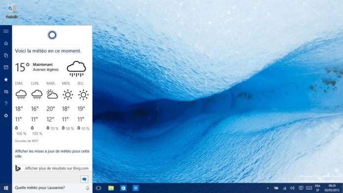 Cortana progresse sur Windows 10, mais ne produit pas des résultats suffisants.