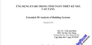 Ứng dụng Etabs trong tính toán thiết kế nhà cao tầng