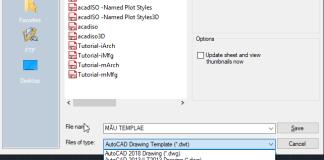 Tạo file mẫu Template trong AutoCAD