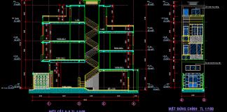 Bản vẽ thiết kế nhà 3 tầng full