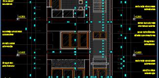 Bản vẽ mẫu nhà phố 6x15m