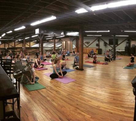 Wednesday night Yoga at my Fav. Brewery (Borrowed from Cabarrus Brewing Co.'s Facebook page)