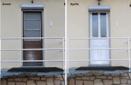 porte d'entrée en pvc avant/ après