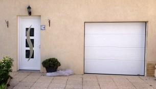 porte entrée et porte de garage alu