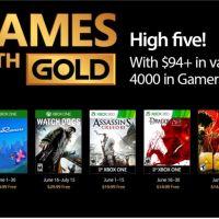 Les jeux  games with gold de juin révélés