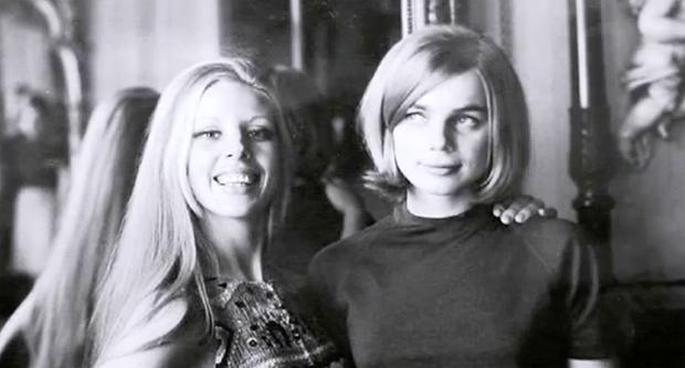 athilde met haar jongste zus Cerilla