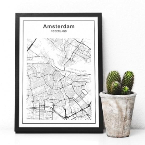 Stadskaart Amsterdam