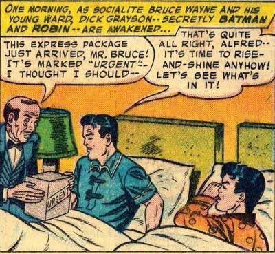 Batman en Robin in bed