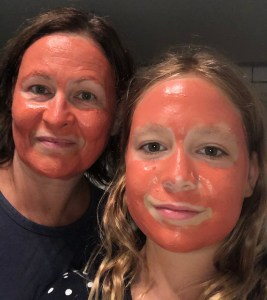 face mask chocolate&strawberry clay