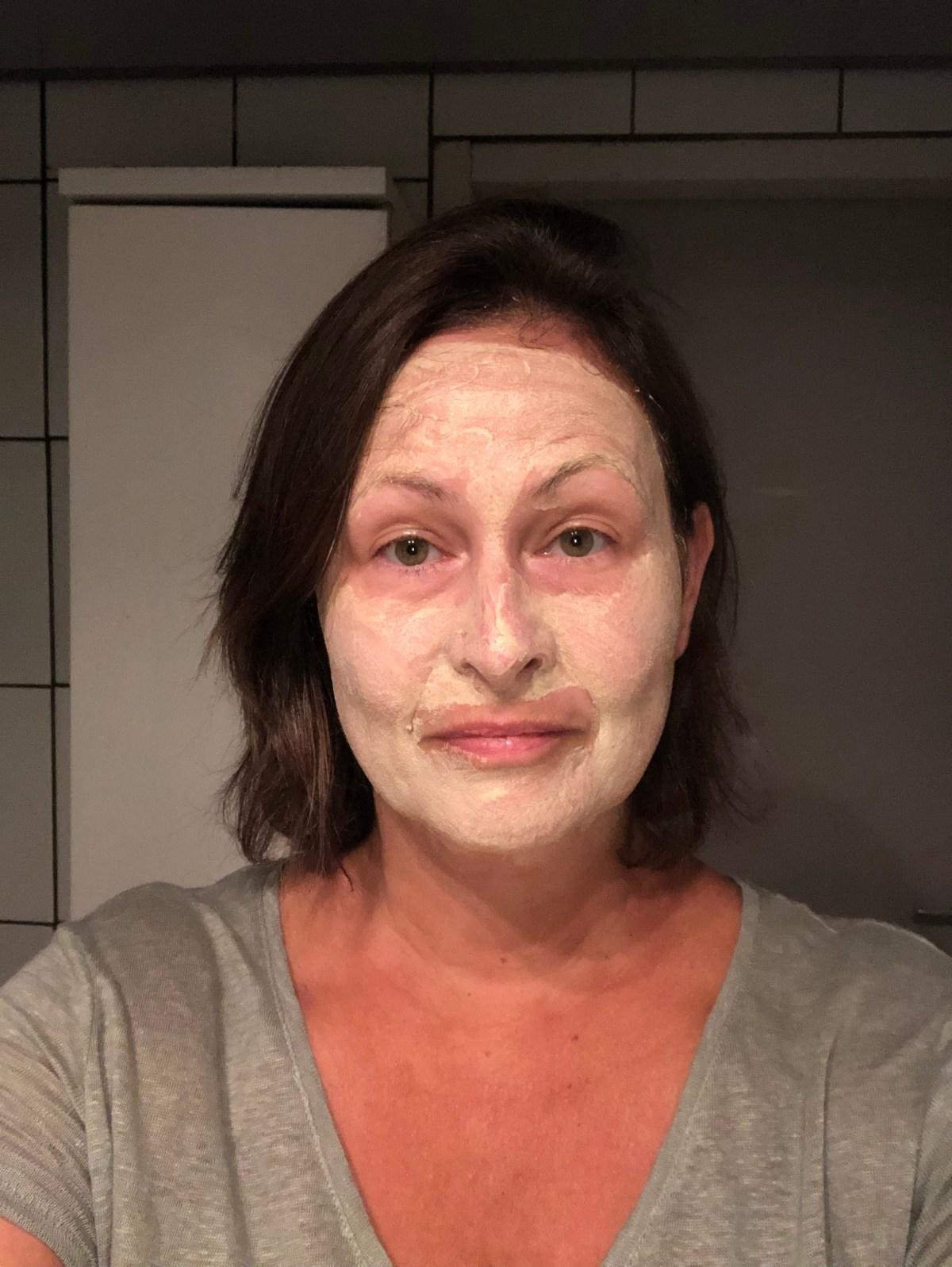 face mask mint & lemon clay