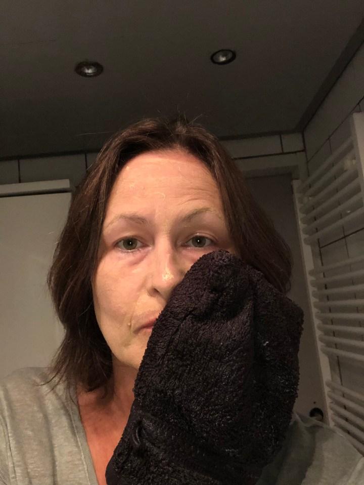 afwassen clay mask