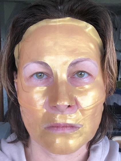 golden gezichtsmasker
