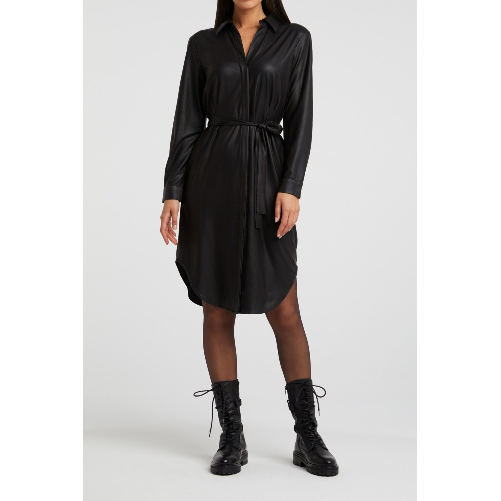YAYA faux leather dress